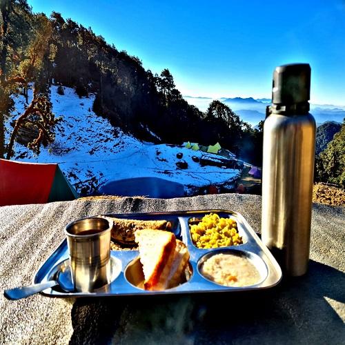 healthy food at raftaar adventure