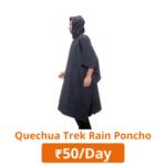 Quechua trek rain poncho